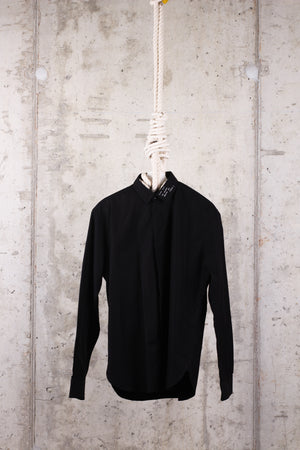 SAINT LAURENT embroidered Yves collar shirt - Size 40