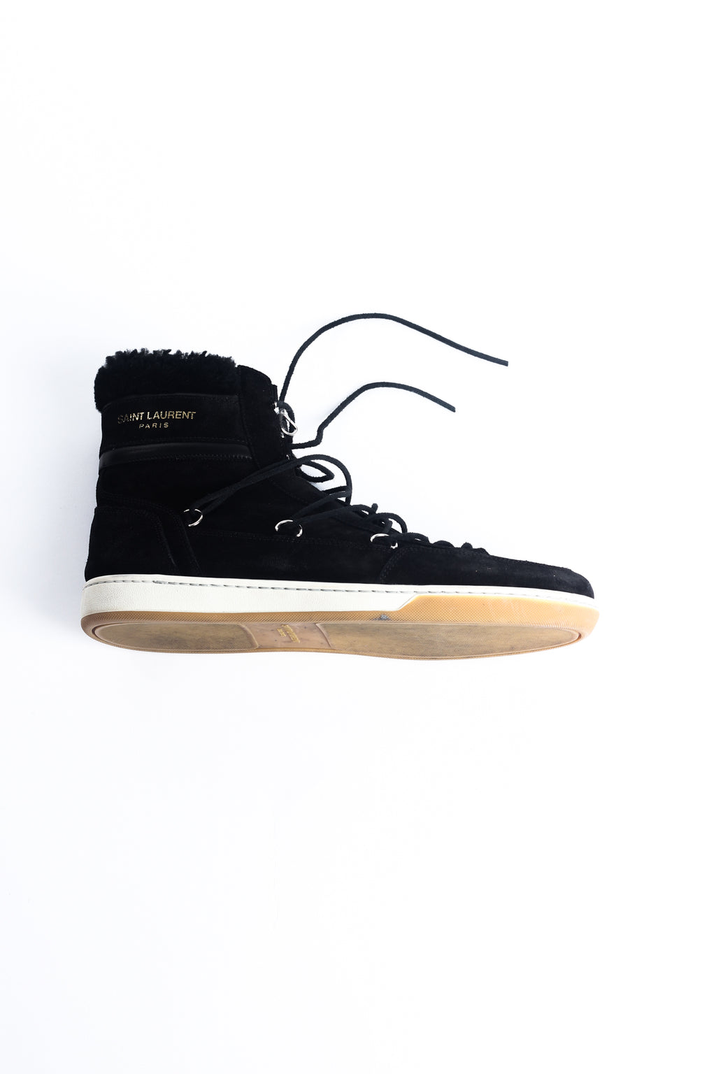 SAINT LAURENT Black HIGH TOP SNEAKER EU 44/ UK 10
