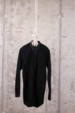 Rick Owens Black V-neck Long sleeve Shirt EU 52/ UK 42