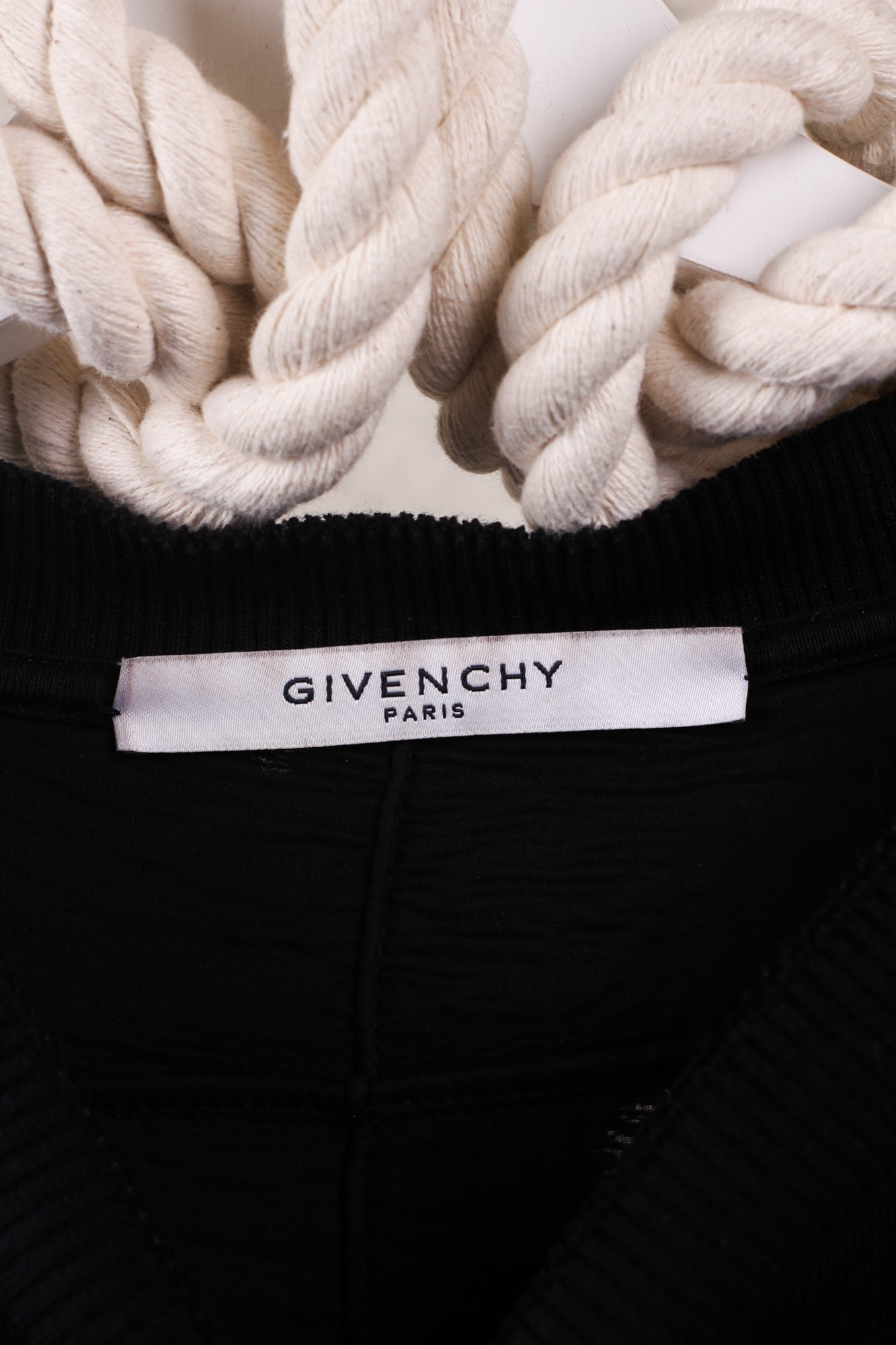 GIVENCHY Black Logo Distressed Sweatshirt - Large