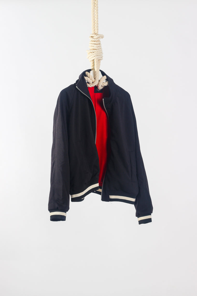 FEAR OF GOD ZIP-UP SATIN TRACK JACKET - SIZE L