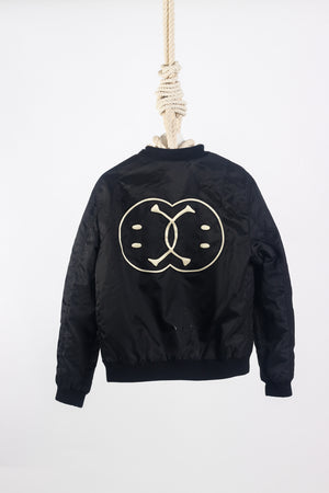 MOSCHINO  Linked Smiley Bomber EU 48