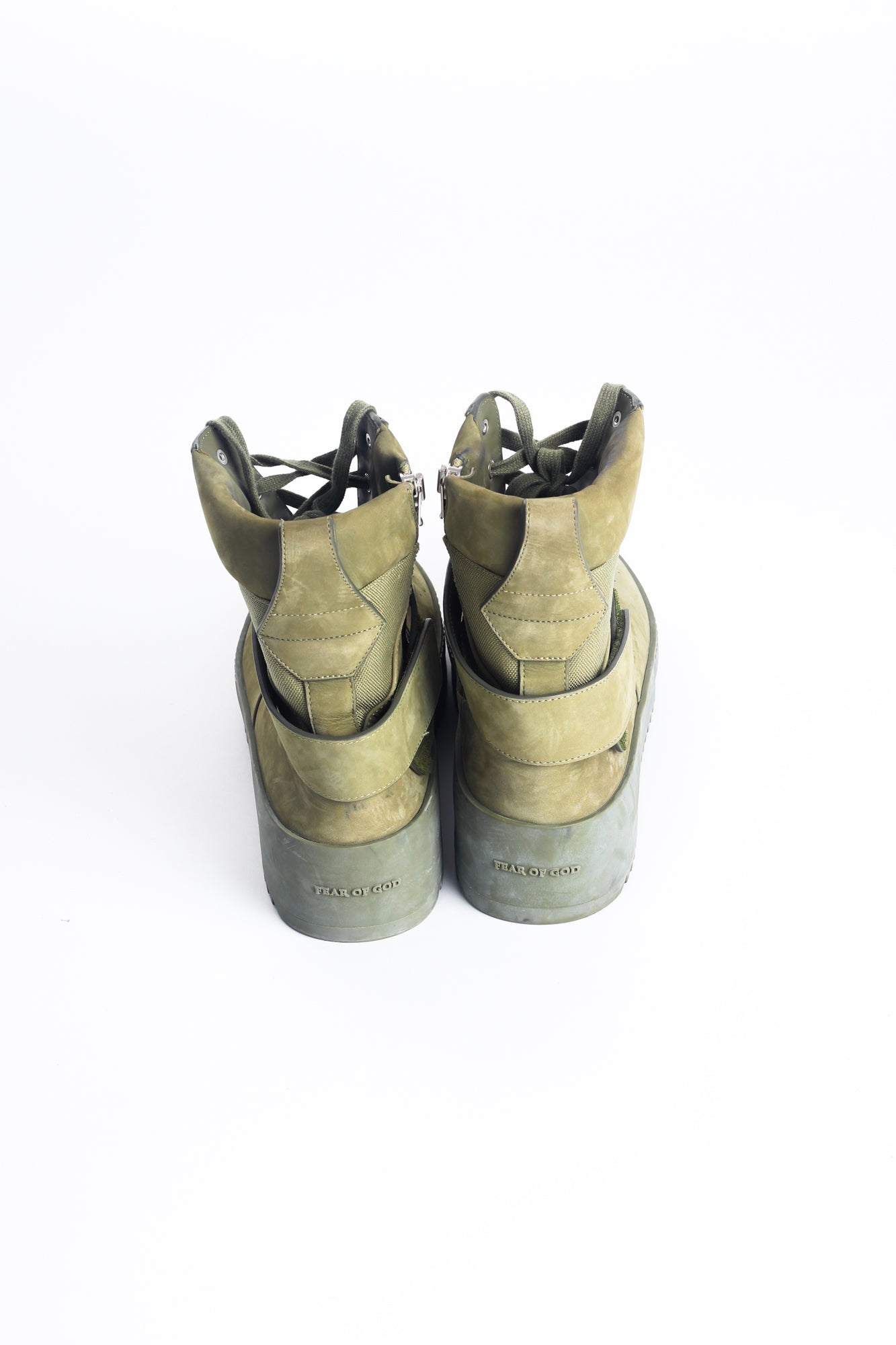 Fear Of God Men's Army Green Military Sneakers EU 45