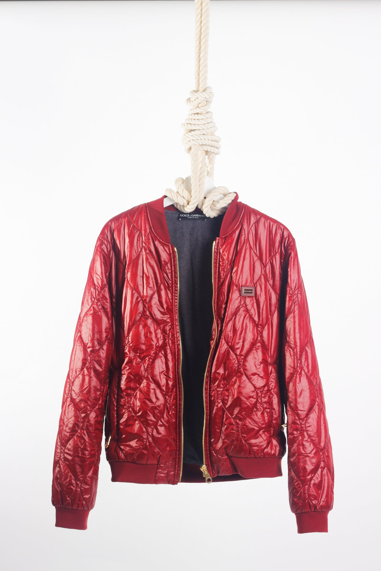 DOLCE & GABBANA quilted bomber jacket M
