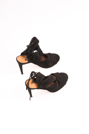 Aquazzura Sloane Suede Cutout Sandals UK 6.5 EU 39.5