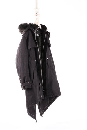 OFF-WHITE Hooded Parka  Black cotton hooded parka from Off-White.