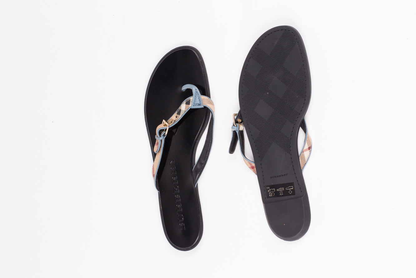 BURBERRY PARSONS FLIP FLOP EU 41/ UK 8