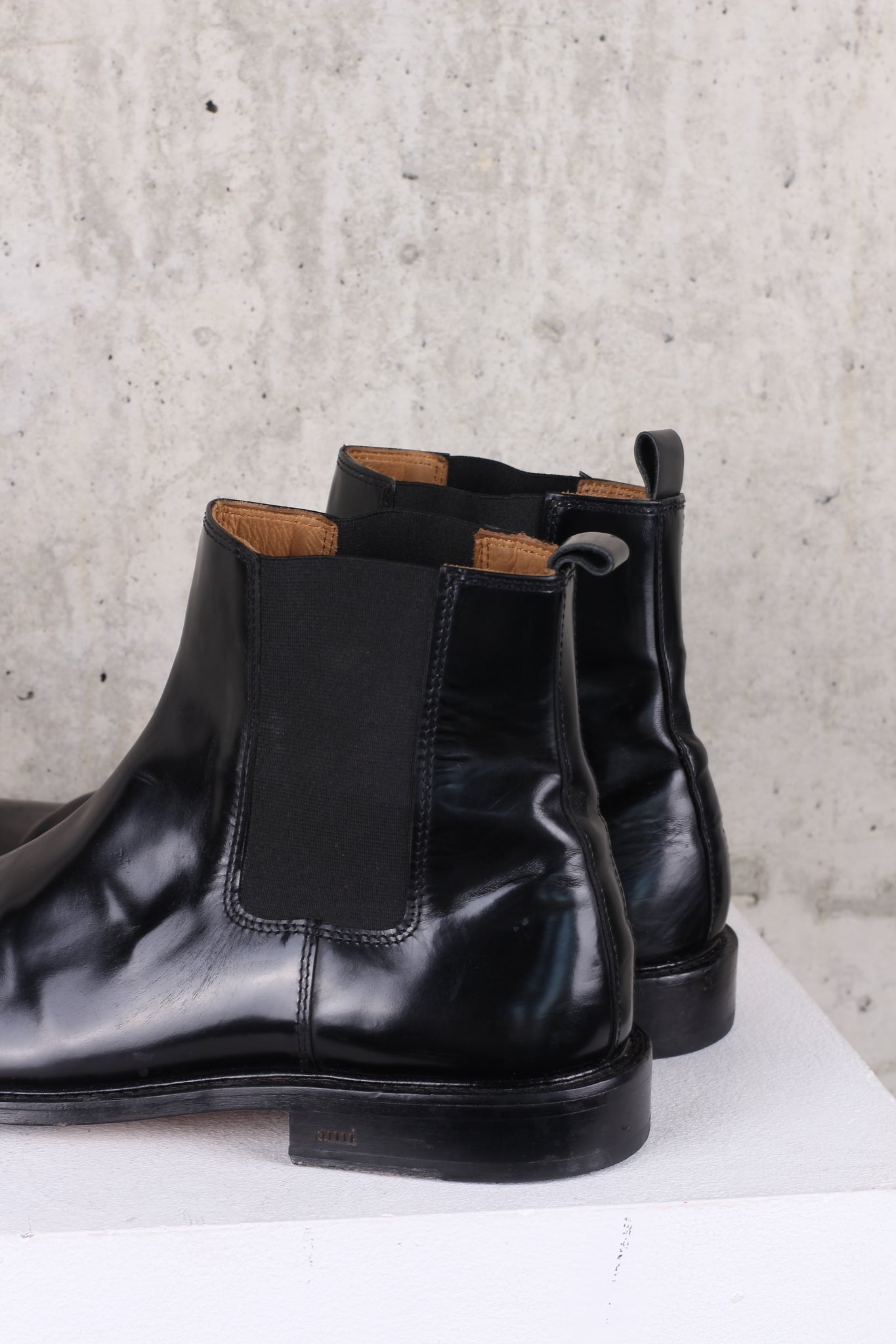 Ami Black leather chelsea boots EU 45