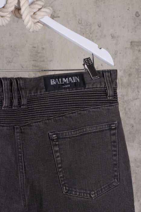 BALMAIN Black Mens Jeans