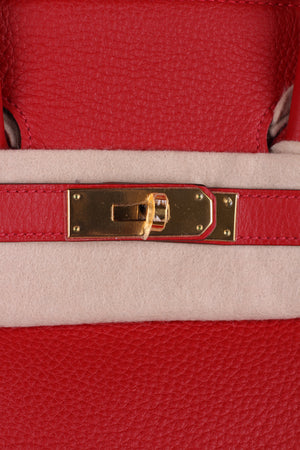 Hermés Birkin Red 35 Togo Leather Gold Hardware - Brand New