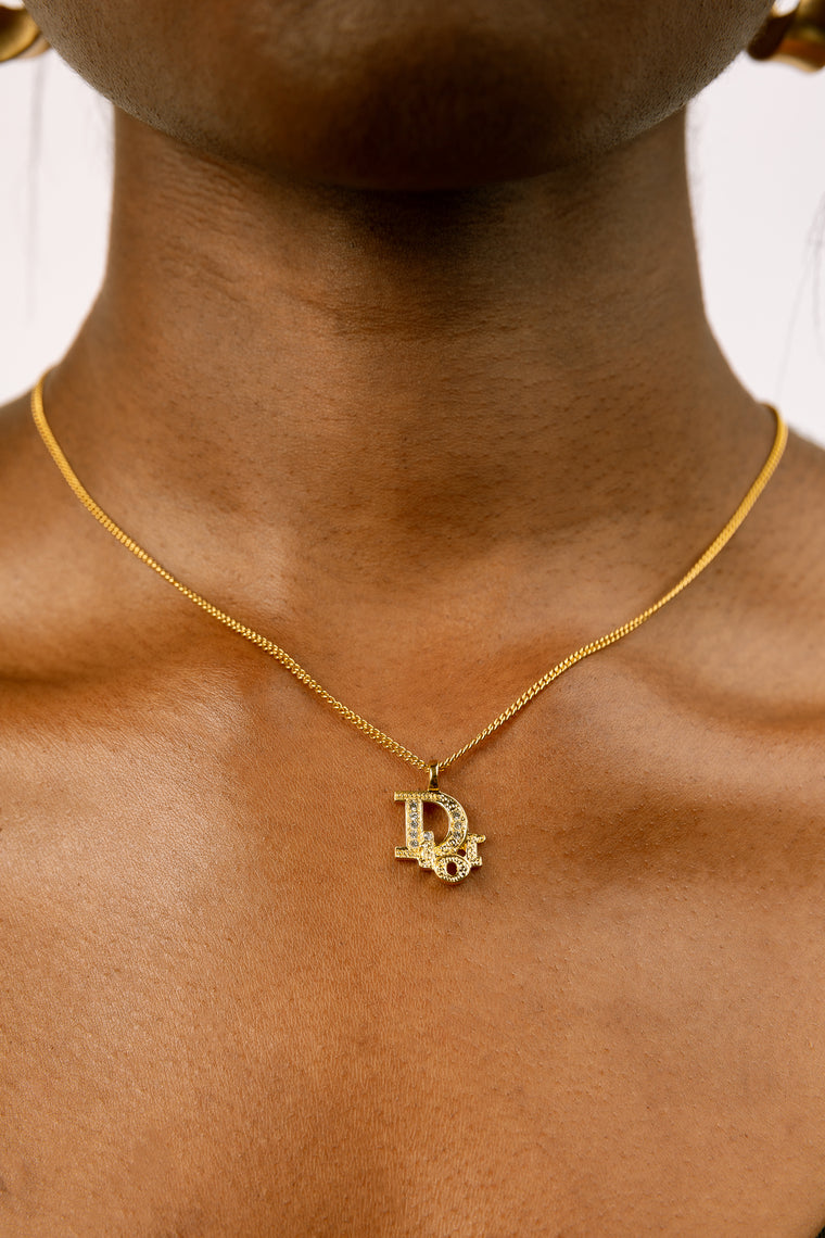 Dior Initial 3D Necklace