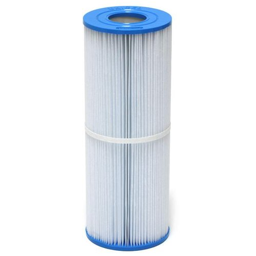 Filter Cartridge Manufacturer / Reference:	Pleatco / PRB251N Unicel / C-4326 Filbur / FC-2375 Magnum / RD25 Darlly / 42513  	  Length (mm):	338 Diameter (mm):	125	  Top (mm):	54 - hole	  Bottom (mm):	54 - hole Filtration size sq ft²:	25 Pleat count:	106 Notes:	Same dimensions and fit as C-4950 except that this filter only offers 25 sq ft filtration. This is to allow greater water flow but will need c	 Apollo Spas Aqua Spas Arctic Spas Artesian Spas Beachcomber Hot Tubs Cal