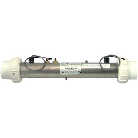 "This heater tube is factory made and comes complete with a new 3kw element and a matching pair of Balboa 12"" M7 sensors, it is made from Titanium, which means it can withstand even the harshest chemical, pressure and heat environments."