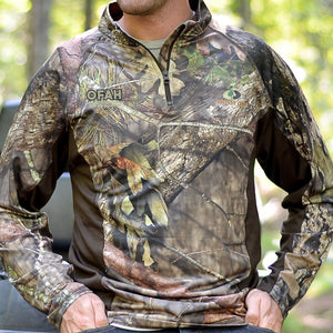 OFAH Quarter zip Mossy Oak® Base Layer - size XL