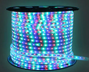 Led rope light 25m roll rgb colour outdoorindoor ip66 with 110v led rope light 25m roll rgb colour outdoorindoor ip66 with 110v flat us wall aloadofball Images