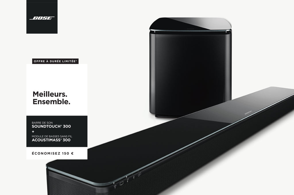 pack bose soundtouch 300 acoustimass virtually invisible audio connect. Black Bedroom Furniture Sets. Home Design Ideas