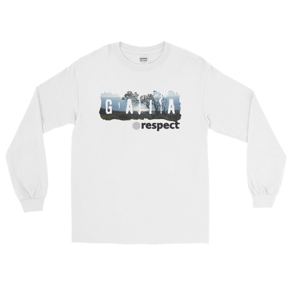 Respect Gaia - Men's Long Sleeve T-Shirt