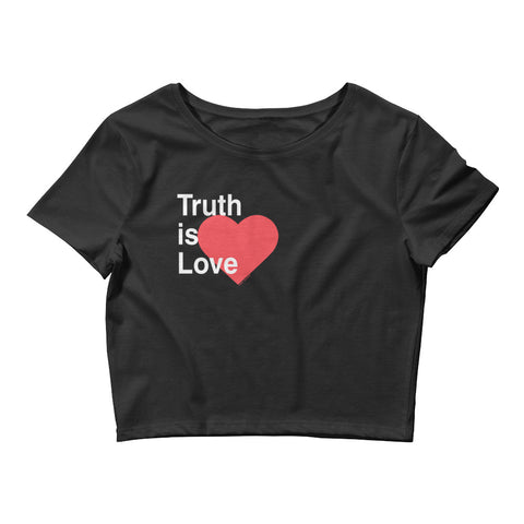 Truth is Love Women's Crop Tee