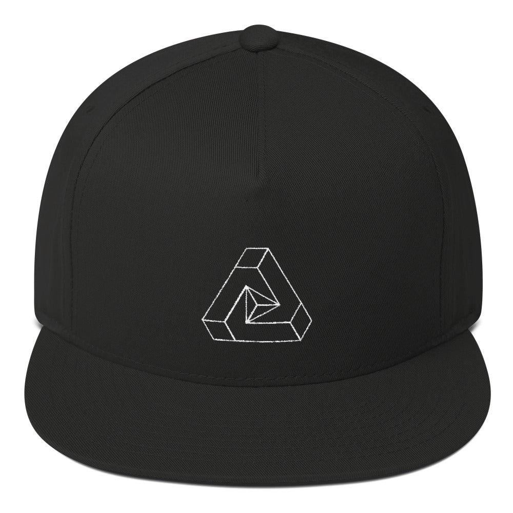 3D Geometry Flat Bill Cap