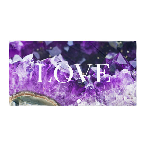 LOVE Amethyst Beach Towel