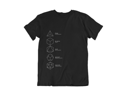 Five Solids Geometry Short-Sleeve T-Shirt