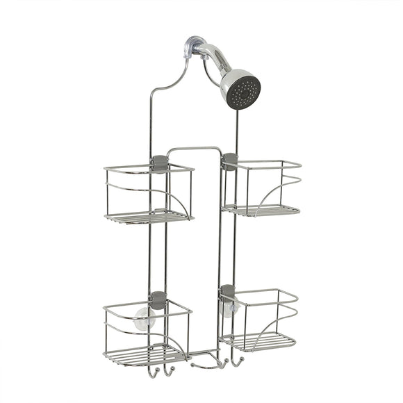 Expandable Over-the-Showerhead Caddy, Chrome