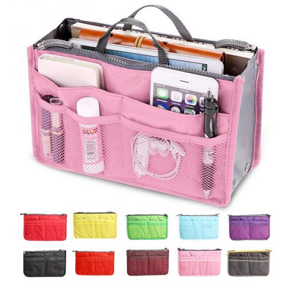 Portable Double Zipper Storage Bag - Travel Bag - Organiser Handbag