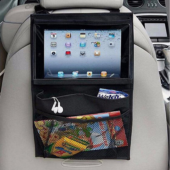 Car Back Seat Storage with an iPad - Tablet Case - Storage Mood