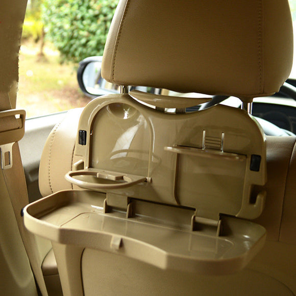 Foldable Car Back Seat Tray for Food and Beverages - Storage Mood