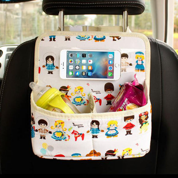 Mini Car Back Seat Organizer with Two Pockets - Storage Mood