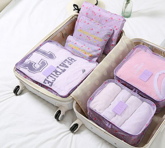 6 Pieces Set Household Travel Portable Waterproof Clothes Organizer