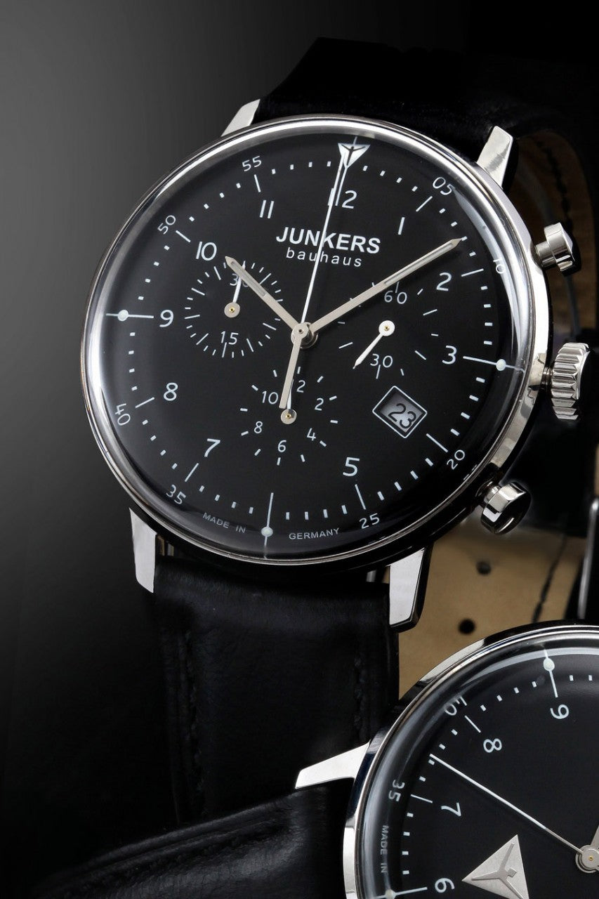 Junkers Bauhaus 6086-2 Chronograph watch -Vintage style
