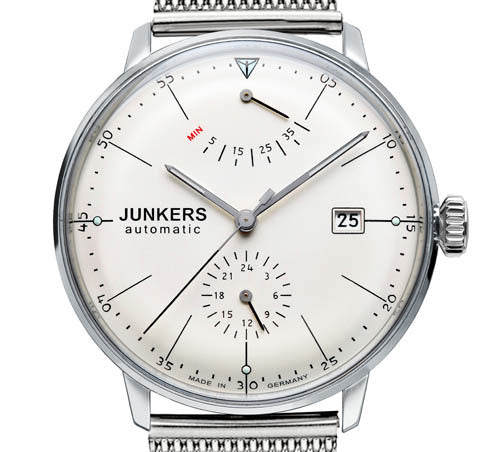 Junkers Bauhaus 6060M-5 Automatic Watch with Power Reserve / 24hr Subdial