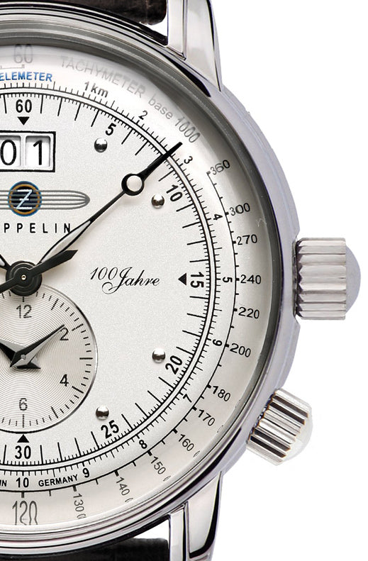 Zeppelin Big Date - Dual Time Watch 7640M-1 - Anniversary collection