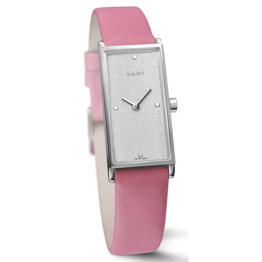 a.b. art  watches  I 301- Pink leather strap  Swiss  Made