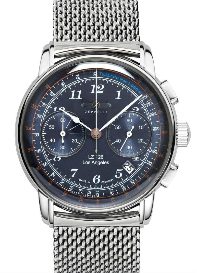 Zeppelin 7614M-3 SERIES LZ 126 Los Angeles Chronograph Watch