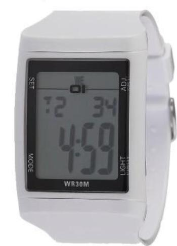01 THE ONE DG921WH Digital Plastic DG Watch