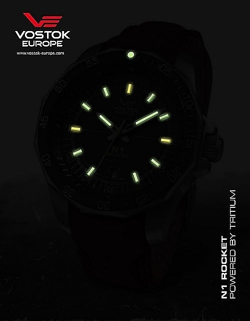 Vostok-Europe N1 Rocket Automatic Tritium tubes-Men's Watch NH35A-2254151b