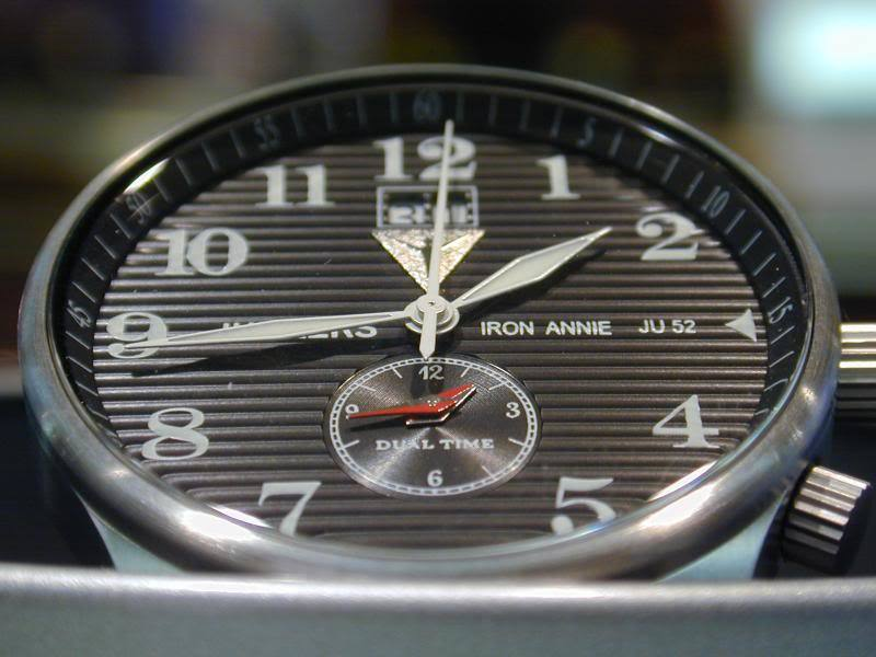 Junkers  6640M-2  Dual time GMT  watch -Iron Annie JU52