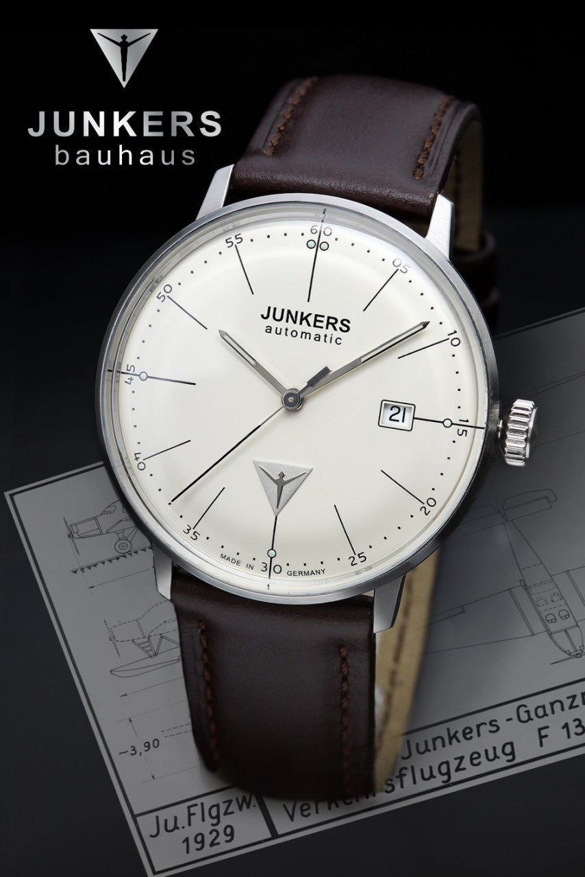 Junkers Bauhaus Automatic watch 6050-5  -Vintage style