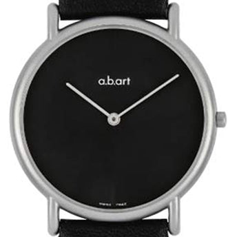 ab art KL 105- Black leather strap watch