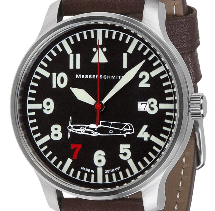 Messerschmitt Aviator Quartz Watch Rote 7 ME 109-42R7