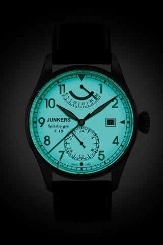 Junkers 6160-5 Automatic Watch with Power Reserve & 24 Hour display