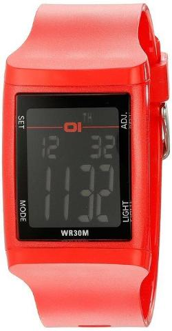01 THE ONE DG921RD Digital Plastic DG Watch