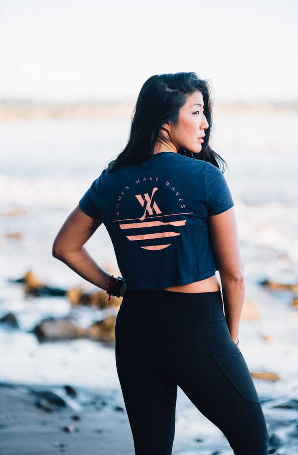 Women Make Waves Coastal Crop Tee