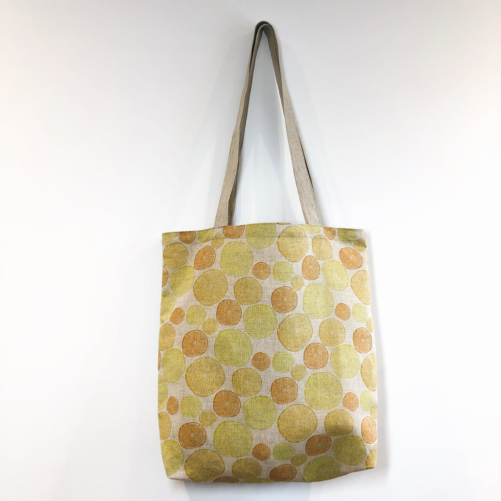 Oranges and Lemons Linen Tote Bag
