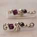 Ear Wings 925 Sterling Silver with Swarovski Amethyst Crystals