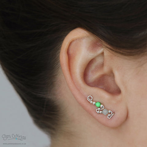 Ear Wings 'Apple' 925 Sterling Silver