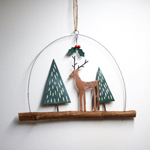 Chic Deer on Twig