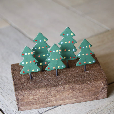 Green Spotty Christmas Trees